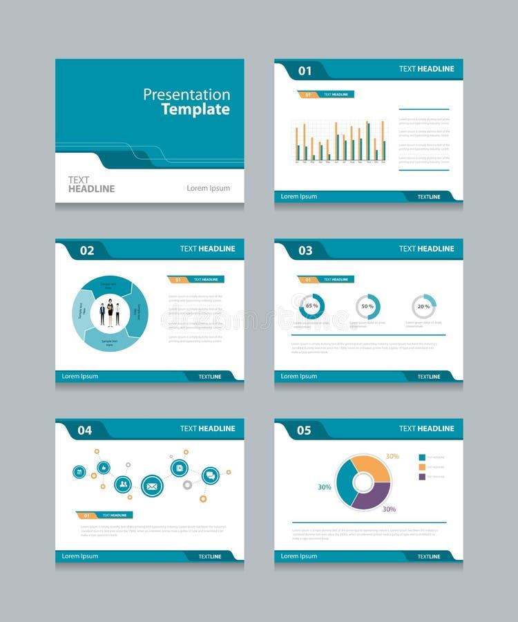 La presentación de la plantilla del vector desliza diseño del fondo gráficos y cartas de la información diseño de las diapositiva libre illustration