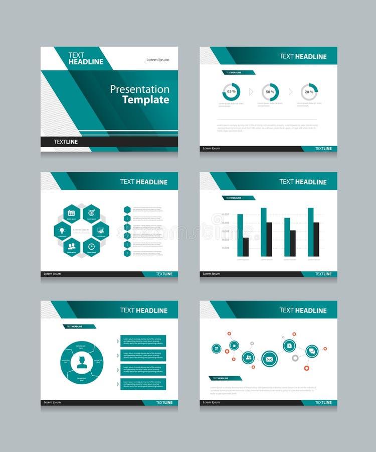 La presentación del negocio y la plantilla de PowerPoint desliza diseño del fondo stock de ilustración