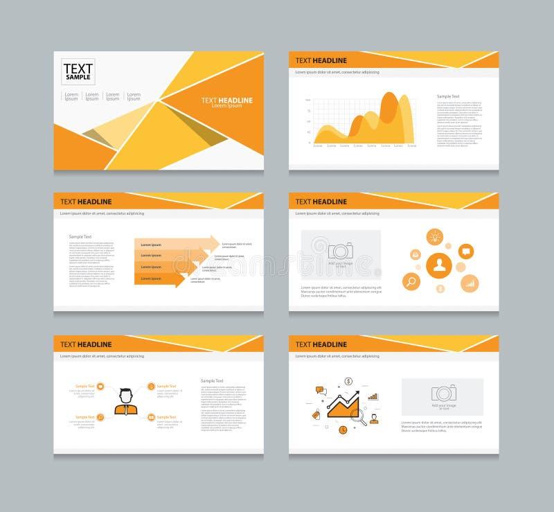 La presentazione del modello di vettore fa scorrere la progettazione del fondo Arancio royalty illustrazione gratis