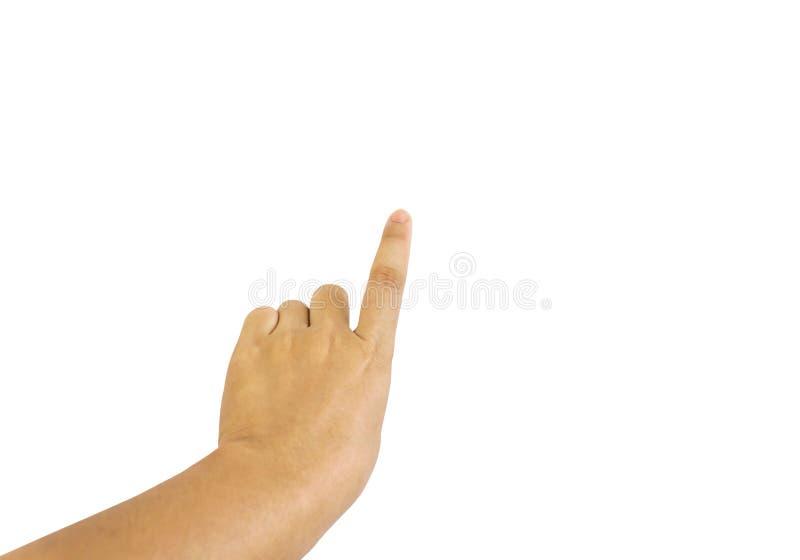 La presse d'isolement de doigt, point ou indiquent image libre de droits