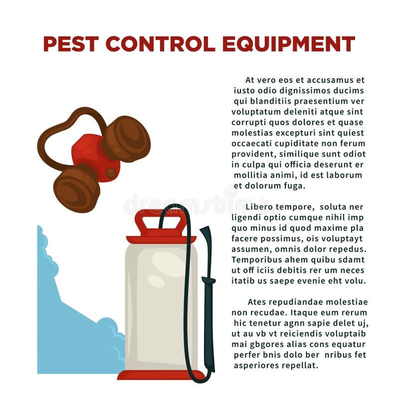 La prevención del parásito significa el cartel informativo con el texto de la muestra libre illustration