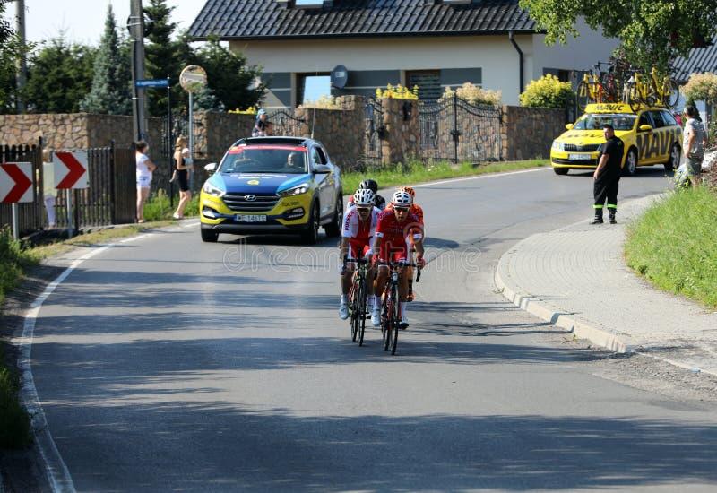 """La prima fase giro del mondo di 75 giri nel †di de Pologne UCI """", l'itinerario da 134 chilometri Cracovia-Cracovia fotografia stock libera da diritti"""