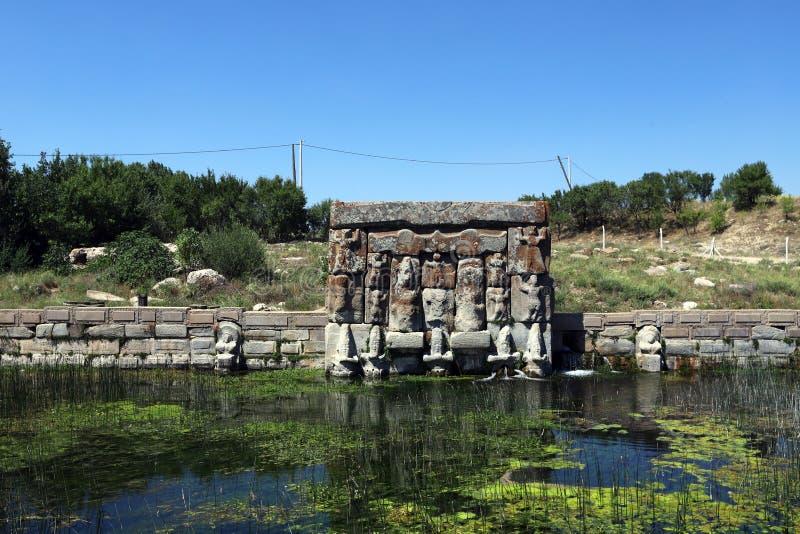La primavera di Eflatun della civilizzazione Hittite, Konya, Turchia immagini stock