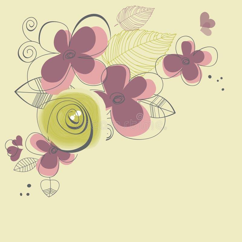 La primavera fiorisce la decorazione d'angolo royalty illustrazione gratis