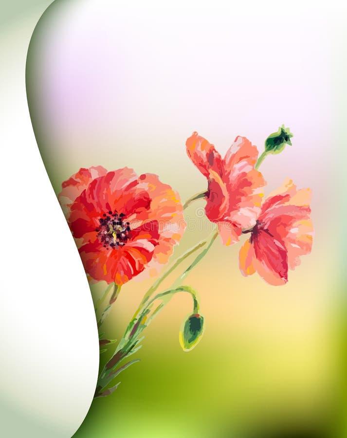 La primavera fiorisce l'invito illustrazione vettoriale