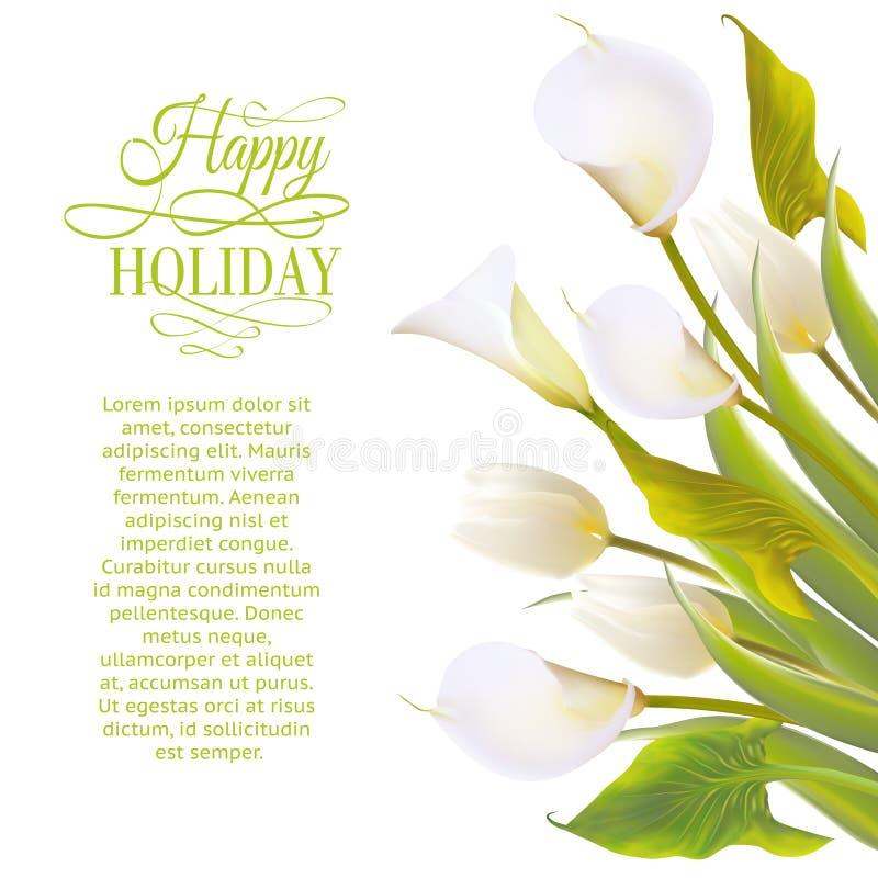 La primavera florece el backround con las letras del texto. ilustración del vector