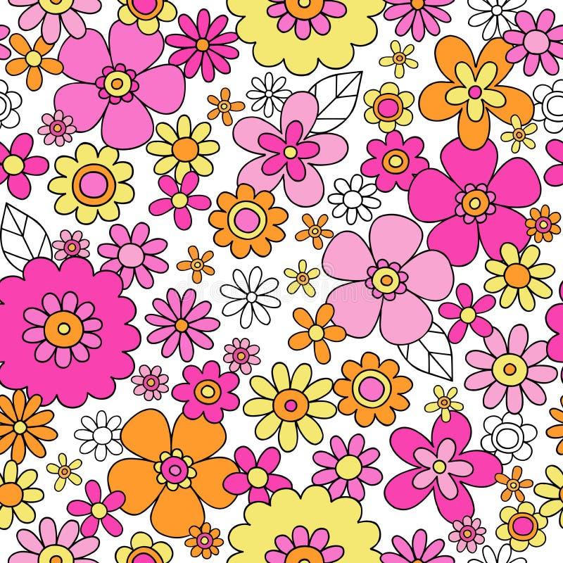 La primavera florece el vector inconsútil Illu del modelo de la repetición stock de ilustración