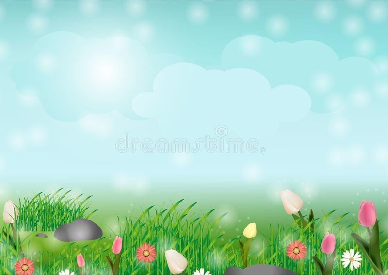 La primavera viene pronto fondo ilustración del vector