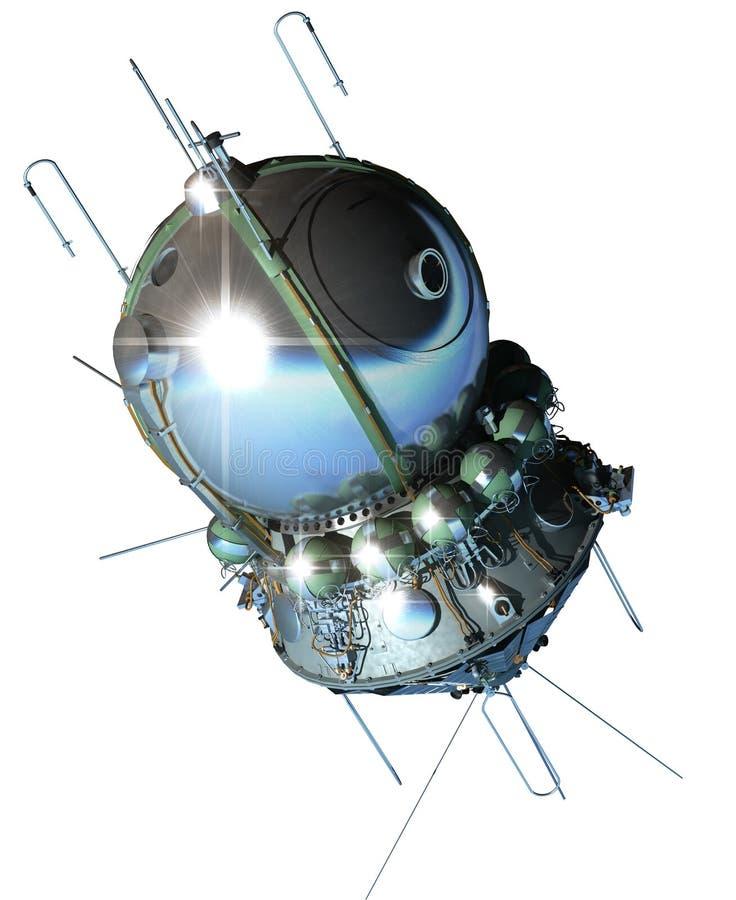 La primera nave espacial stock de ilustración