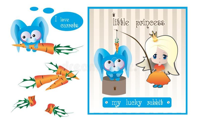 La princesa y el conejo fotos de archivo
