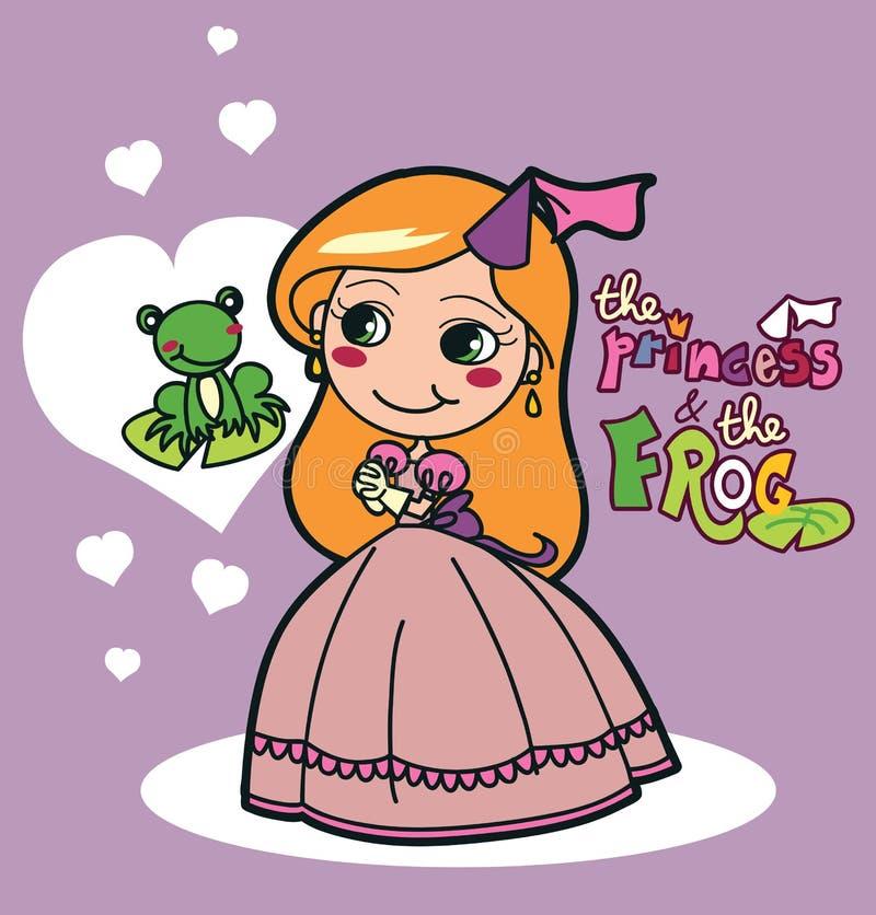 La princesa y la rana libre illustration