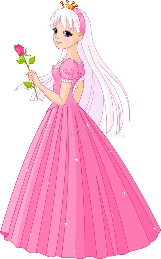 La principessa bella con è aumentato illustrazione vettoriale