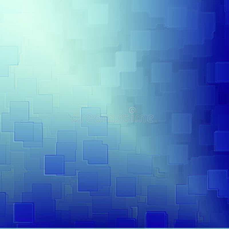 La priorità bassa astratta blu cuba la struttura di rilievo illustrazione vettoriale