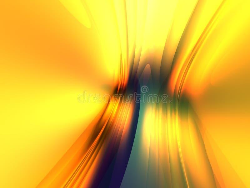 La priorità bassa astratta chiara blu gialla 3D rende immagini stock libere da diritti