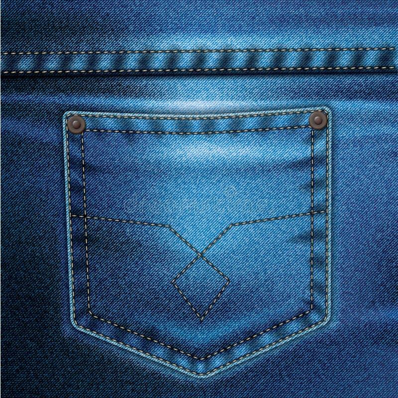 La priorità bassa di vettore dei jeans ha impostato 2 illustrazione vettoriale