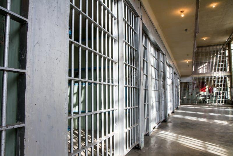 la prisión barra cerrado todo para arriba foto de archivo libre de regalías