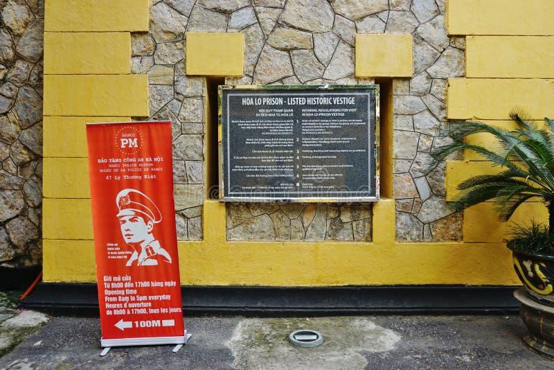La prisión de Maison Centrale Hoa Lo en Hanoi, Vietnam fotos de archivo libres de regalías