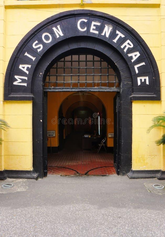 La prisión de Maison Centrale Hoa Lo en Hanoi, Vietnam foto de archivo libre de regalías