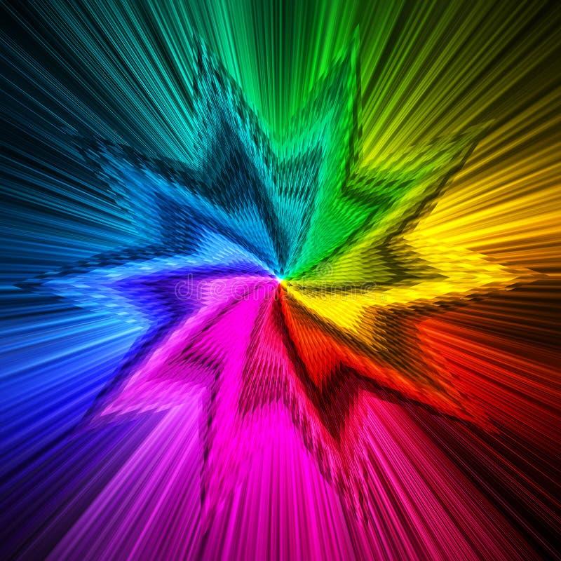 La prisma abstracta de la forma de la estrella colorea el fondo ilustración del vector