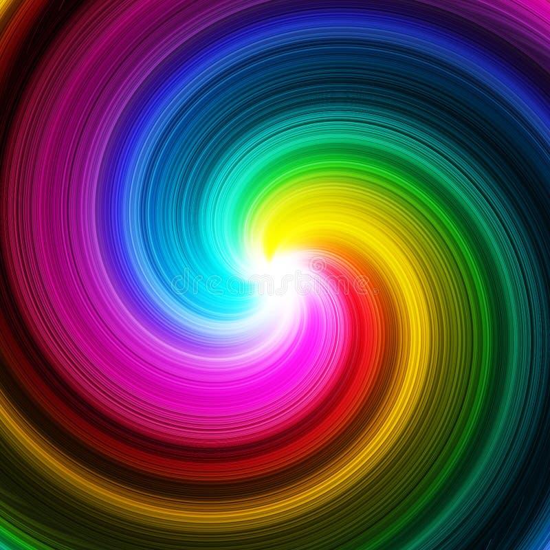 La prisma abstracta del remolino colorea el fondo stock de ilustración