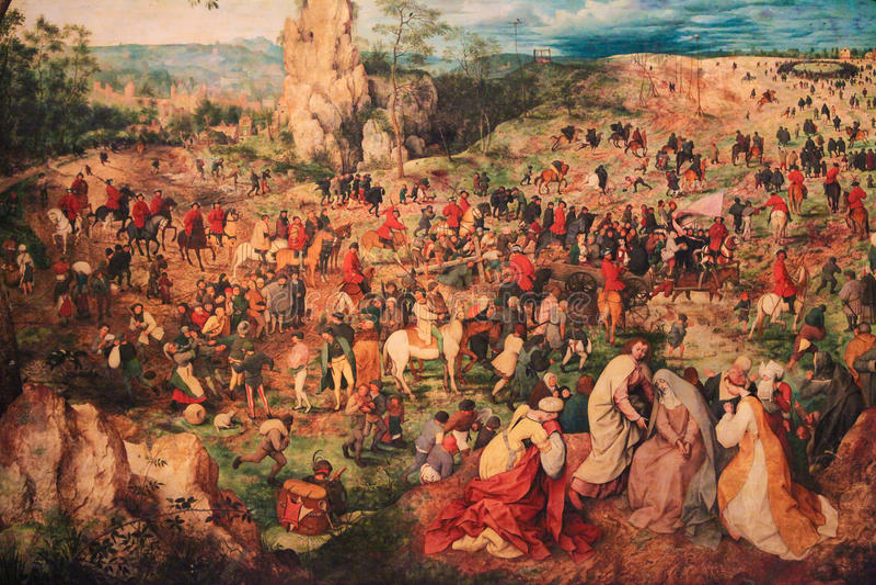 La procesión al Calvary libre illustration