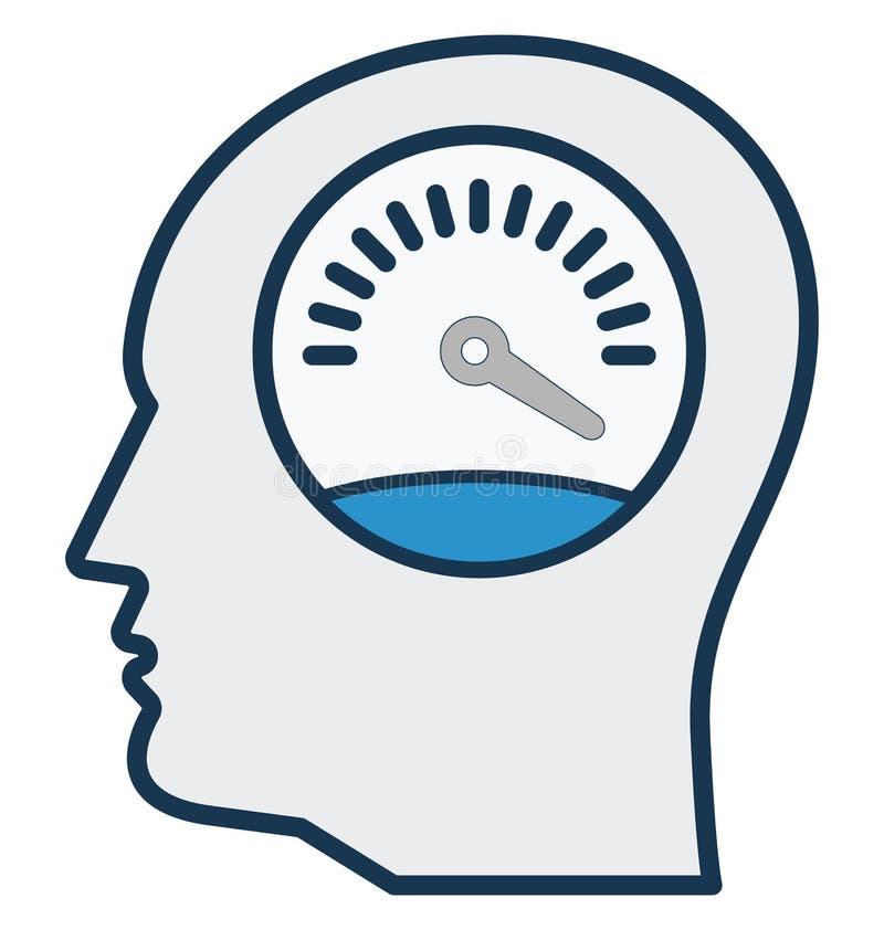 La productivité, vitesse, icône d'isolement de vecteur peut être facilement éditent et modifient illustration libre de droits