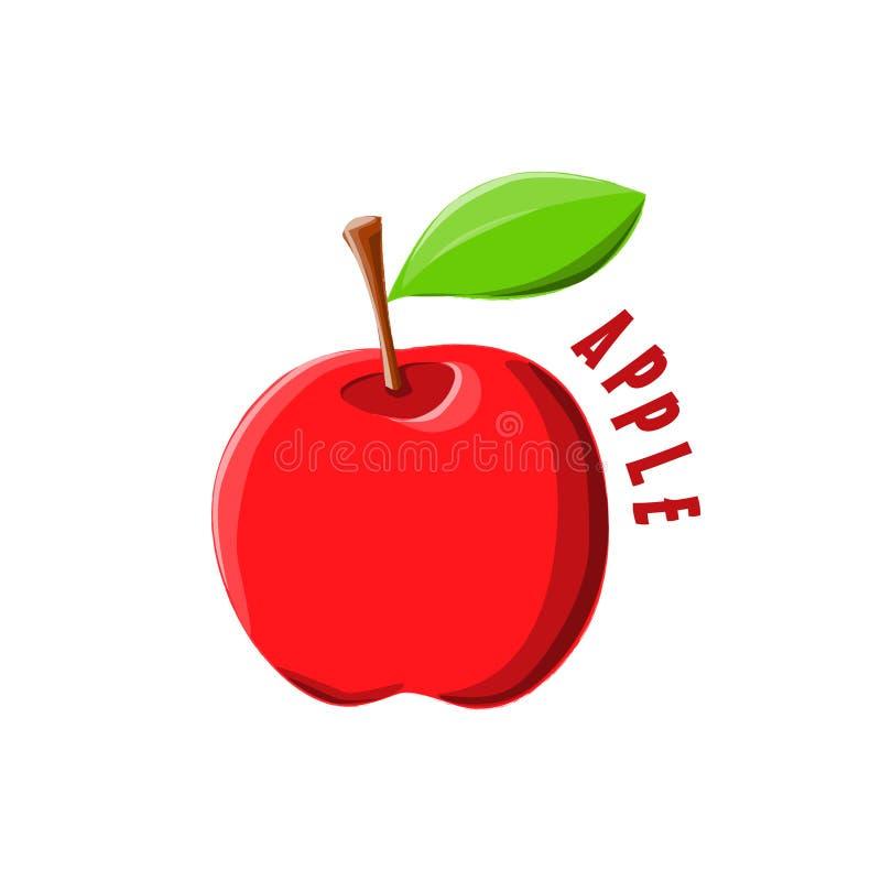 La progettazione Apple dell'icona di logo coltiva immagini stock
