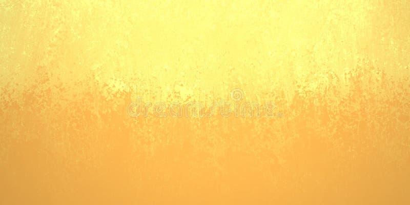 La progettazione astratta del fondo dell'oro giallo, confine ha i vantaggi arancio più scuri di colore illustrazione di stock