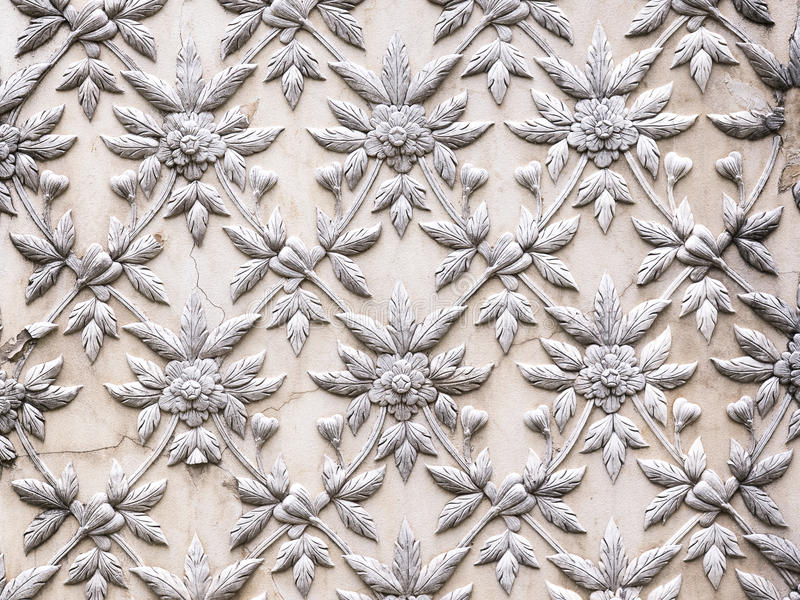 La progettazione bianca dello stucco fotografie stock