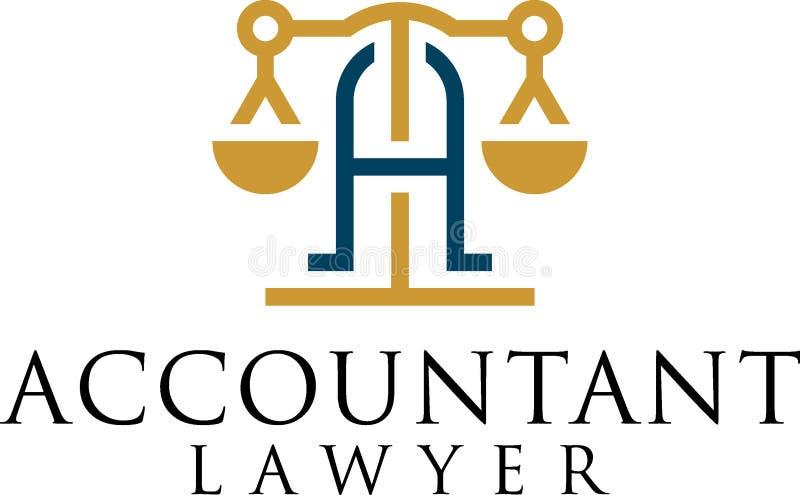 La progettazione del concetto dell'avvocato del ragioniere illustrazione vettoriale