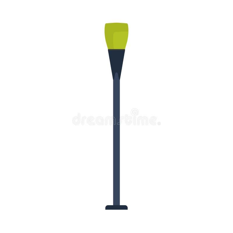 La progettazione dell'icona di vettore dell'iluminazione pubblica ha isolato bianco Siluetta della città della lanterna della lam illustrazione vettoriale