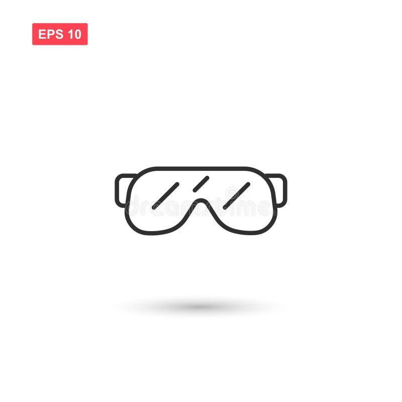 La progettazione di vettore dell'icona degli occhiali di protezione ha isolato 4 royalty illustrazione gratis