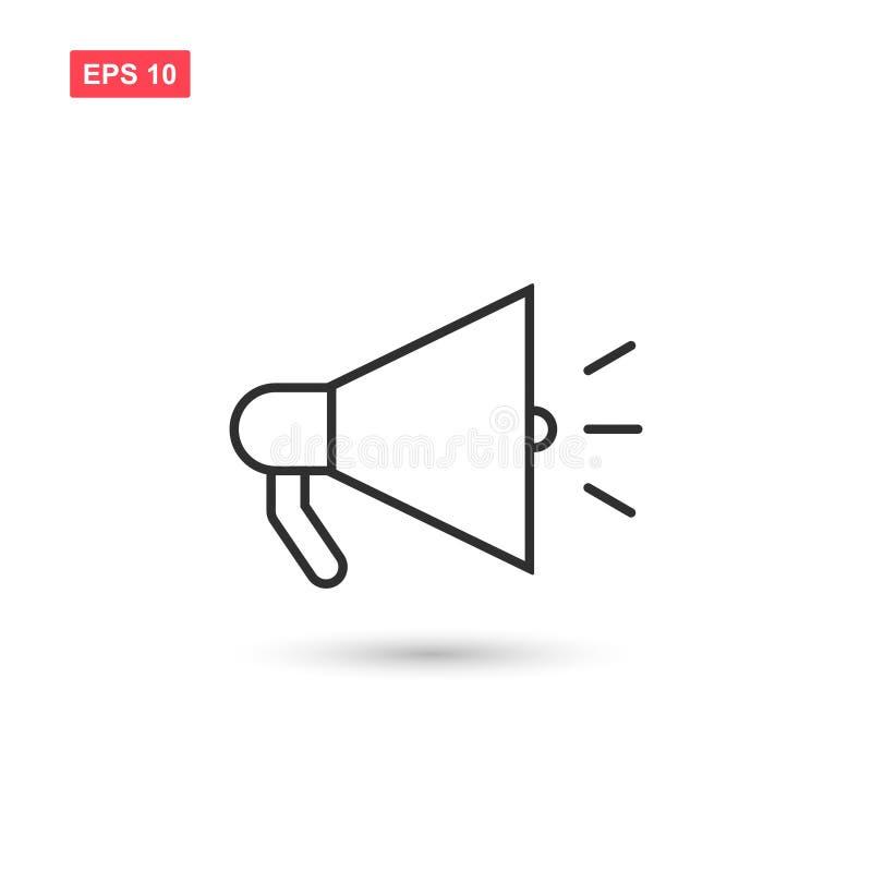 La progettazione di vettore dell'icona del megafono ha isolato 4 royalty illustrazione gratis