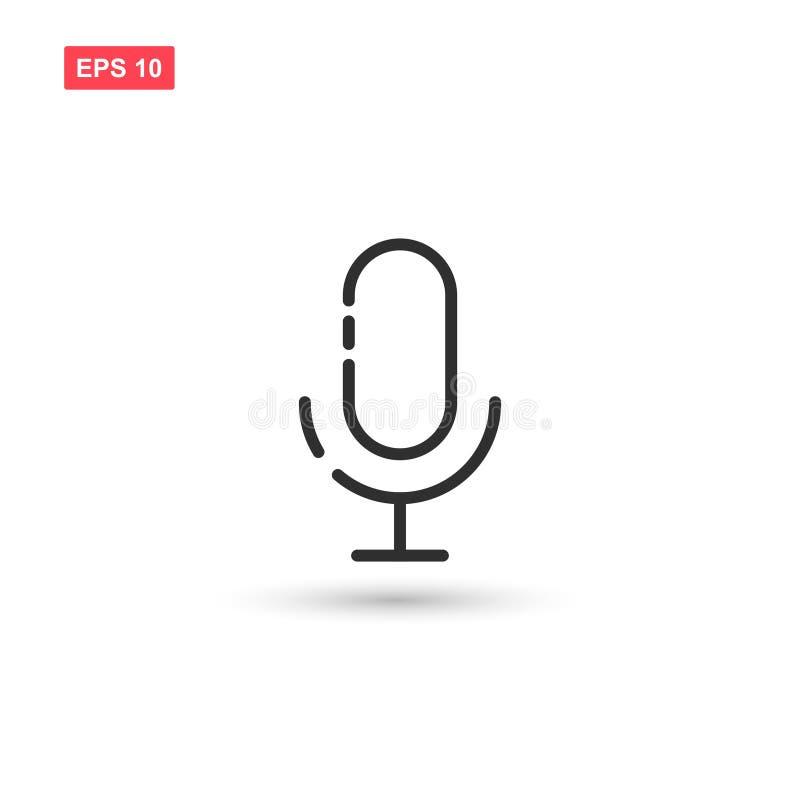 La progettazione di vettore dell'icona del microfono di karaoke ha isolato 3 illustrazione vettoriale