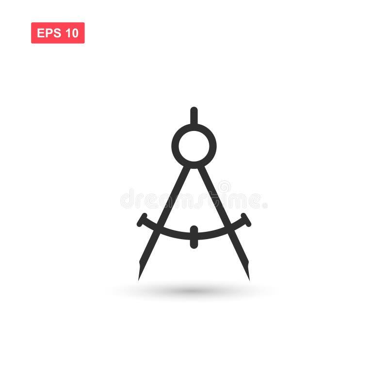 La progettazione di progettazione di vettore dell'icona della bussola ha isolato 2 royalty illustrazione gratis