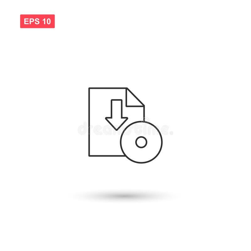 La progettazione di vettore dell'icona di download di software ha isolato 4 illustrazione vettoriale