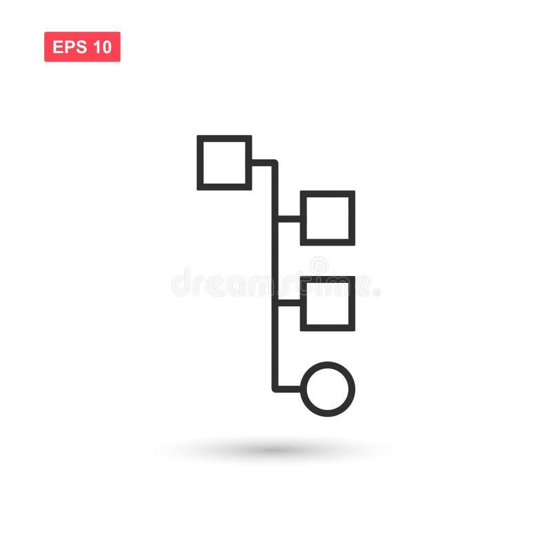 La progettazione di vettore dell'icona di flusso di lavoro ha isolato 5 illustrazione di stock