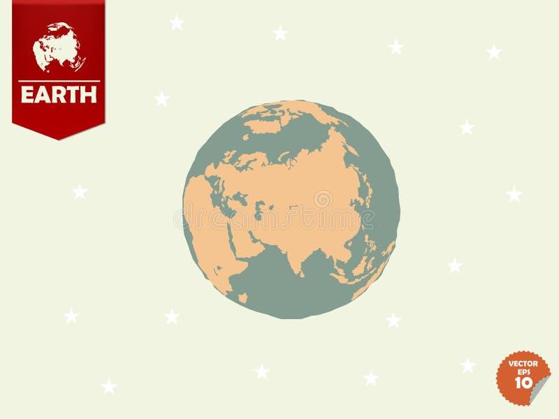 La progettazione variopinta della terra illustrazione di stock