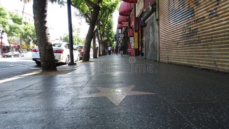 La promenade de Hollywood de la renomm?e photographie stock libre de droits