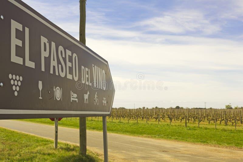 La promenade de vin, Uruguay images stock