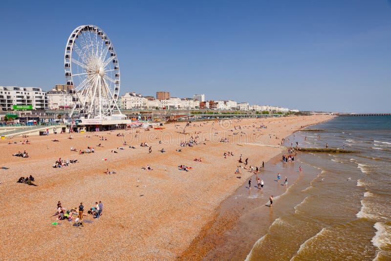 La 'promenade' y la tabla de Brighton varan Sussex del este Inglés suroriental foto de archivo libre de regalías