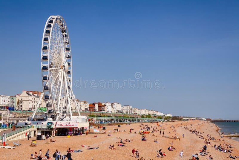 La 'promenade' y la tabla de Brighton varan Sussex del este Inglés suroriental fotos de archivo libres de regalías