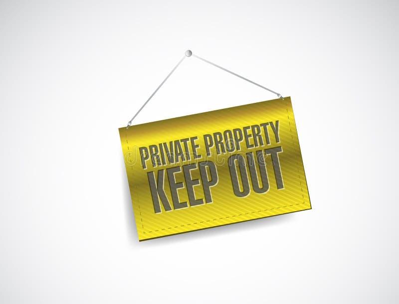 La propiedad privada guarda hacia fuera el ejemplo de la bandera de la muestra stock de ilustración