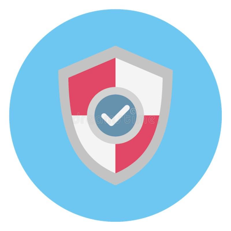 La protection d'acheteur, bouclier de protection a isolé l'icône de vecteur qui peut être facilement éditée illustration de vecteur