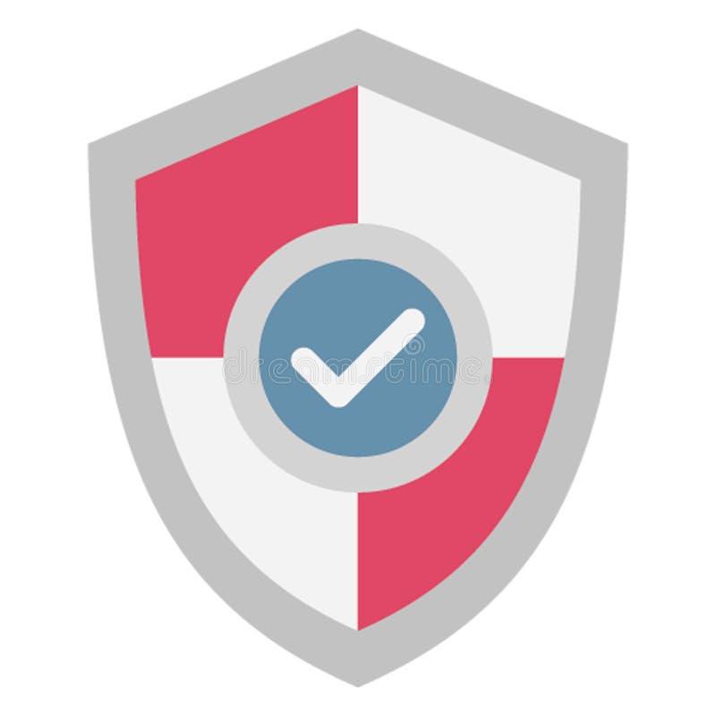 La protection d'acheteur, bouclier de protection a isolé l'icône de vecteur qui peut être facilement éditée illustration stock