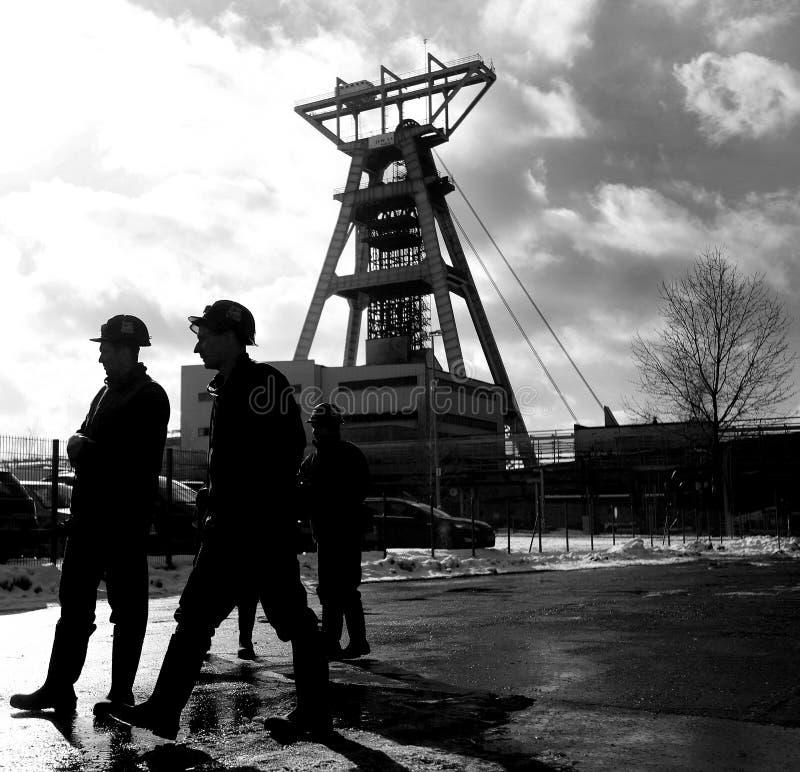 La protesta Acción-de la huelga de mineros silesios fotos de archivo libres de regalías