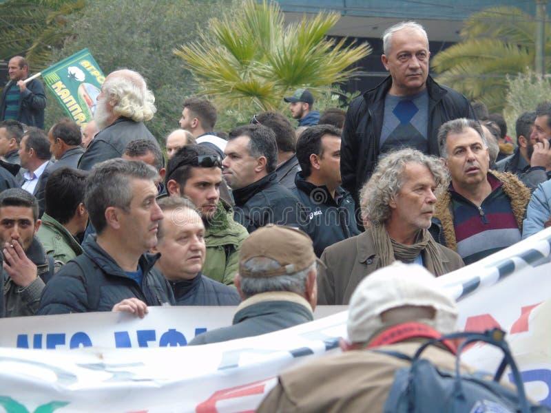 La protesta 4 de los granjeros imagenes de archivo