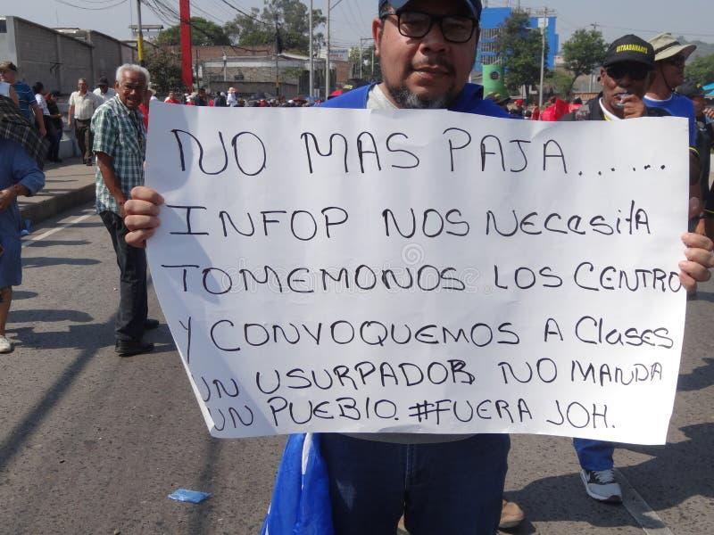 La protestation de jour de travail march Tegucigalpa le Honduras en mai 2019 20 photographie stock