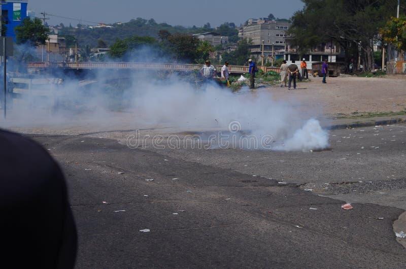 La protestation de jour de travail march Tegucigalpa le Honduras en mai 2019 11 photographie stock libre de droits