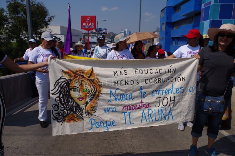 La protestation de jour de travail march Tegucigalpa le Honduras en mai 2019 7 photo libre de droits
